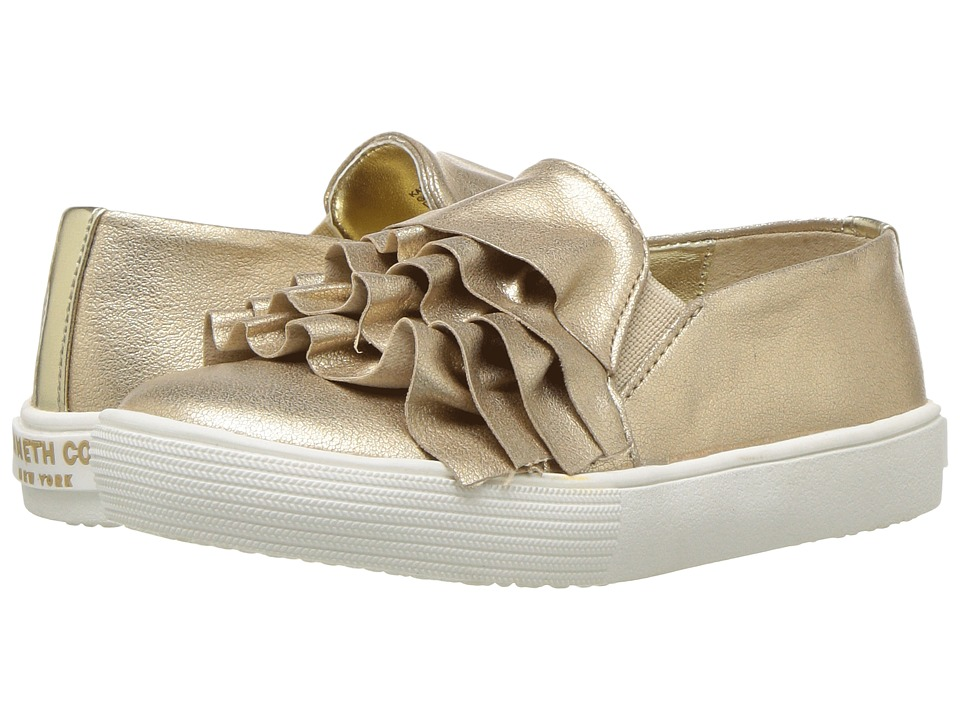 Kenneth Cole Reaction Kids - Kam Ruffle (Toddler) (Gold) Girls Shoes