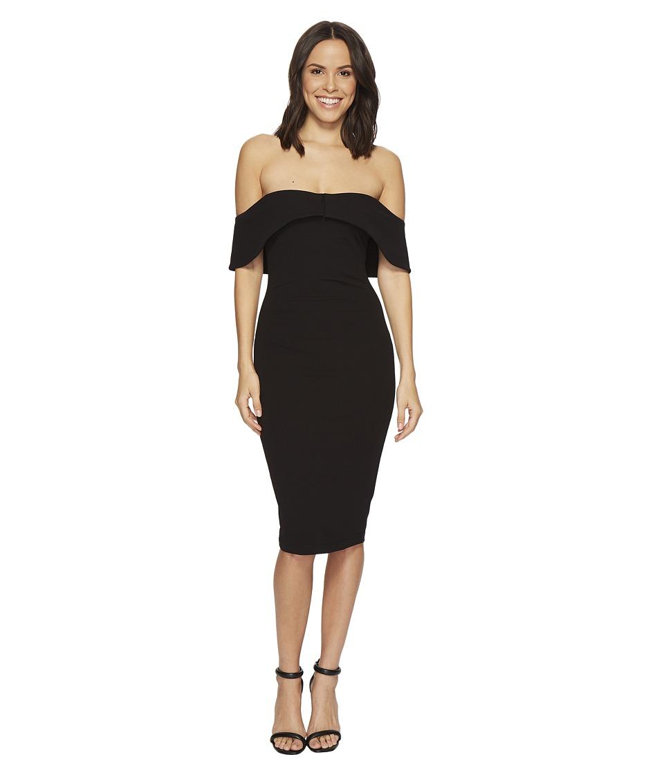 Hale Bob - Strut Your Stuff Stretch Crepe Off Shoulder Dress (Black) Womens Dress