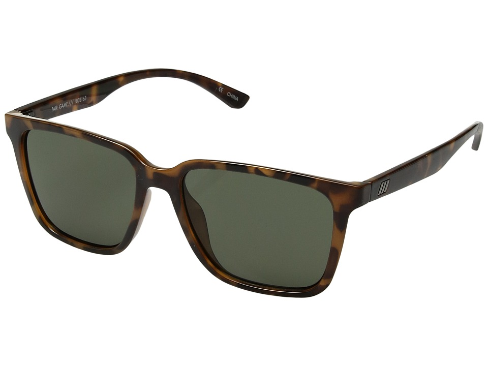Le Specs - Fair Game (Milky Tort/Green Mono) Fashion Sunglasses
