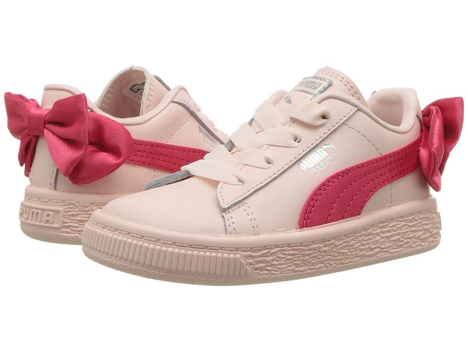 Puma Kids Basket Bow AC INF (Toddler) (Paradise Pink) Girls Shoes