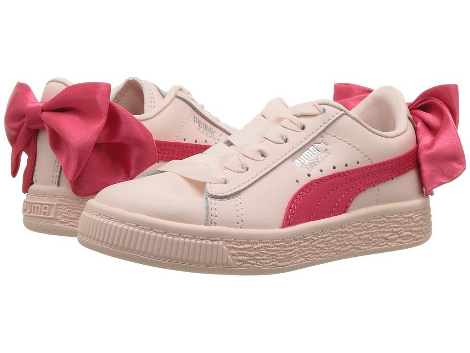 Puma Kids Basket Bow AC PS (Little Kid/Big Kid) (Paradise Pink) Girls Shoes
