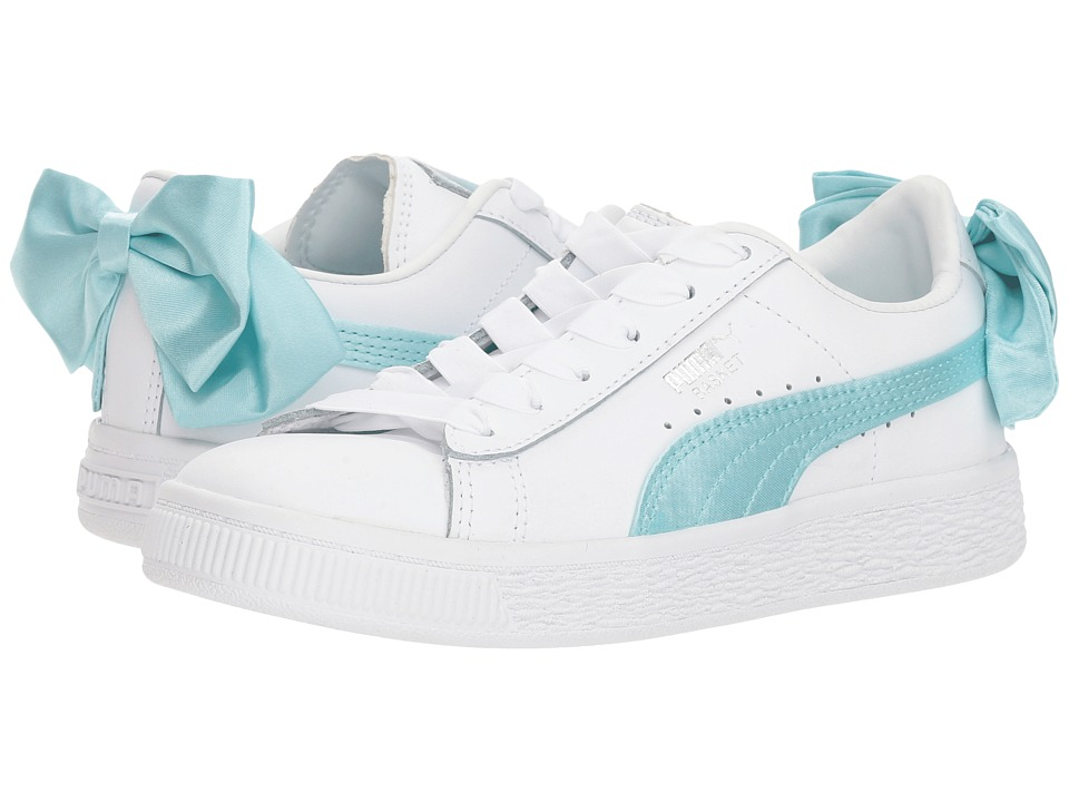 Puma Kids Basket Bow AC PS (Little Kid/Big Kid) (Island Paradise) Girls Shoes