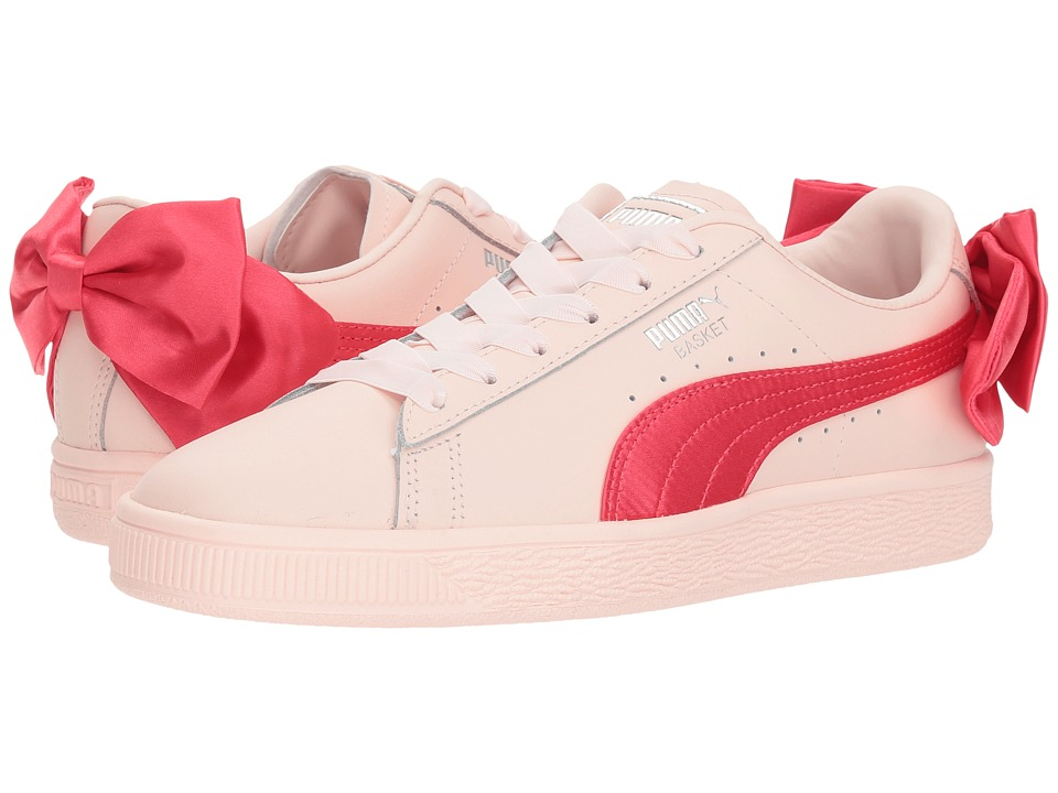 Puma Kids Basket Bow Jr (Big Kid) (Paradise Pink) Girls Shoes