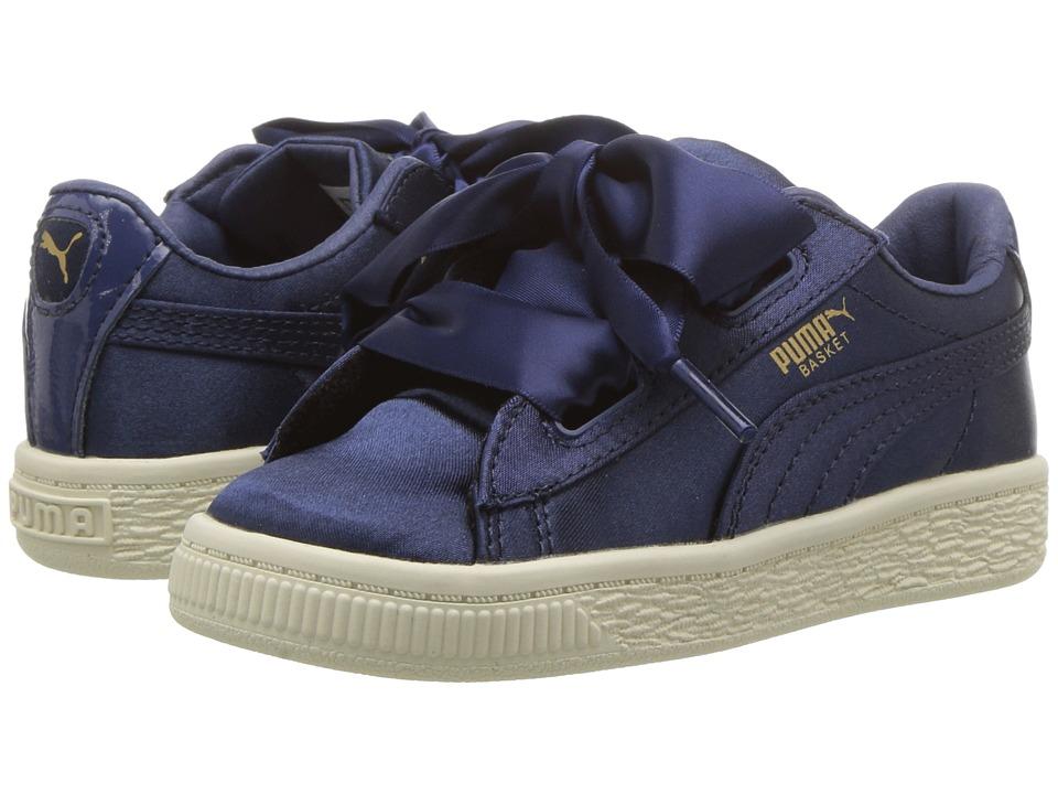 Puma Kids Basket Heart Tween INF (Toddler) (Sargasso Sea) Girls Shoes