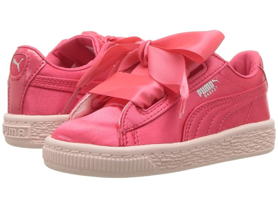 Puma Kids Basket Heart Tween INF (Toddler) (Paradise Pink) Girls Shoes