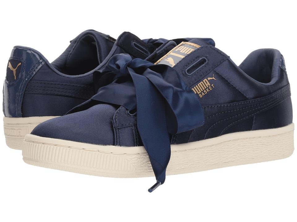 Puma Kids Basket Heart Tween Jr (Big Kid) (Sargasso Sea) Girls Shoes