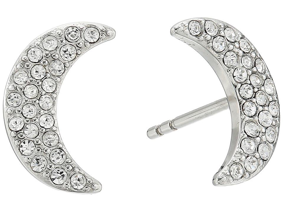 Fossil - Glitz Moon Earrings Jackets (Silver) Earring