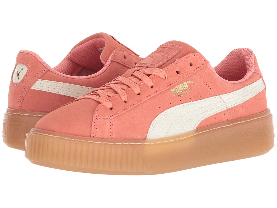 Puma Kids - Suede Platform SNK (Big Kid) (Shell Pink/Whisper White) Girls Shoes