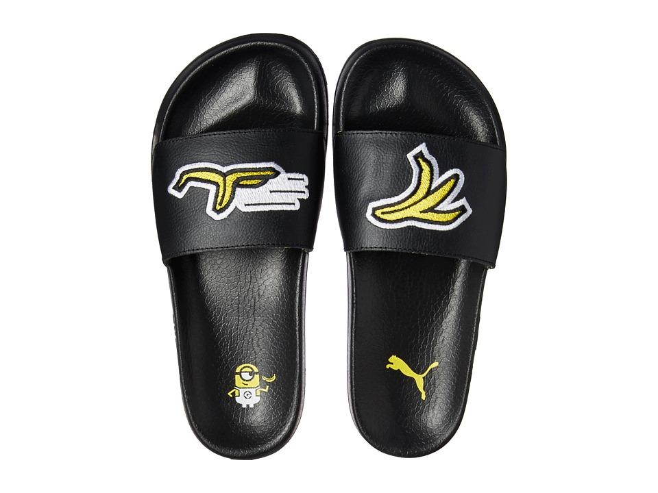 Puma Kids Minions Leadcat Jr (Big Kid) (Black/Minion Yellow) Kids Shoes