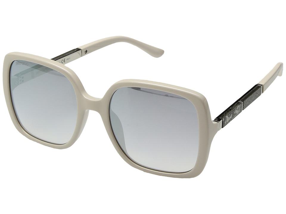 Jimmy Choo - Chari/S (Beige/Grey Silver Mirror) Fashion Sunglasses