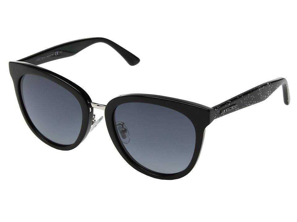 Jimmy Choo - Cade/F/S (Black Glitter/Dark Grey Gradient) Fashion Sunglasses