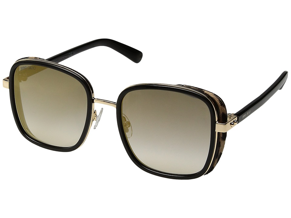 Jimmy Choo - Elva/S (Black Gold/Dark Grey Gradient) Fashion Sunglasses