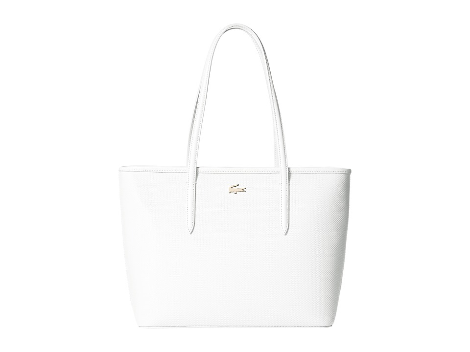 Lacoste - Chantaco M Zip Shopping Bag (Marshmallow) Handbags