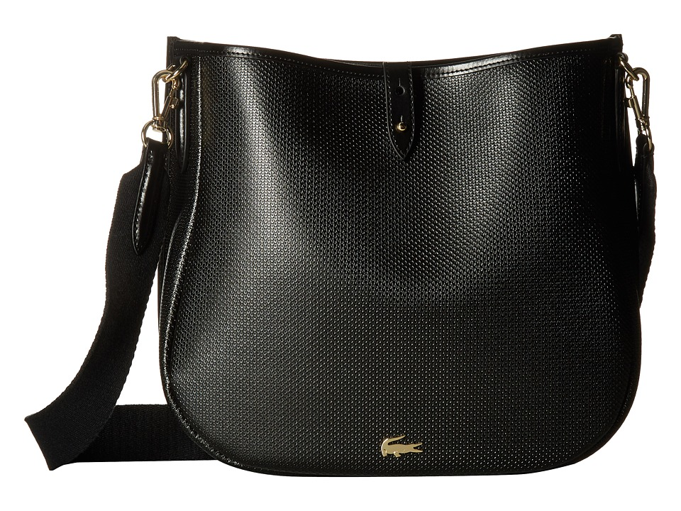 Lacoste - Chantaco Hobo Bag (Black) Hobo Handbags