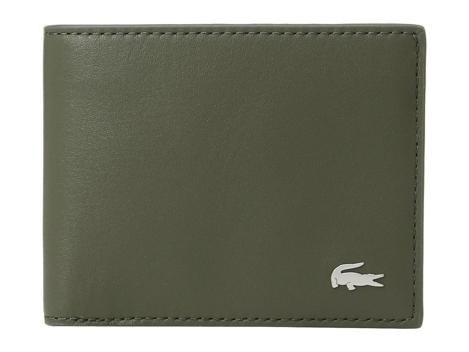 Lacoste - FG Small Billfold ID Slot (Grape Leaf) Bill-fold Wallet