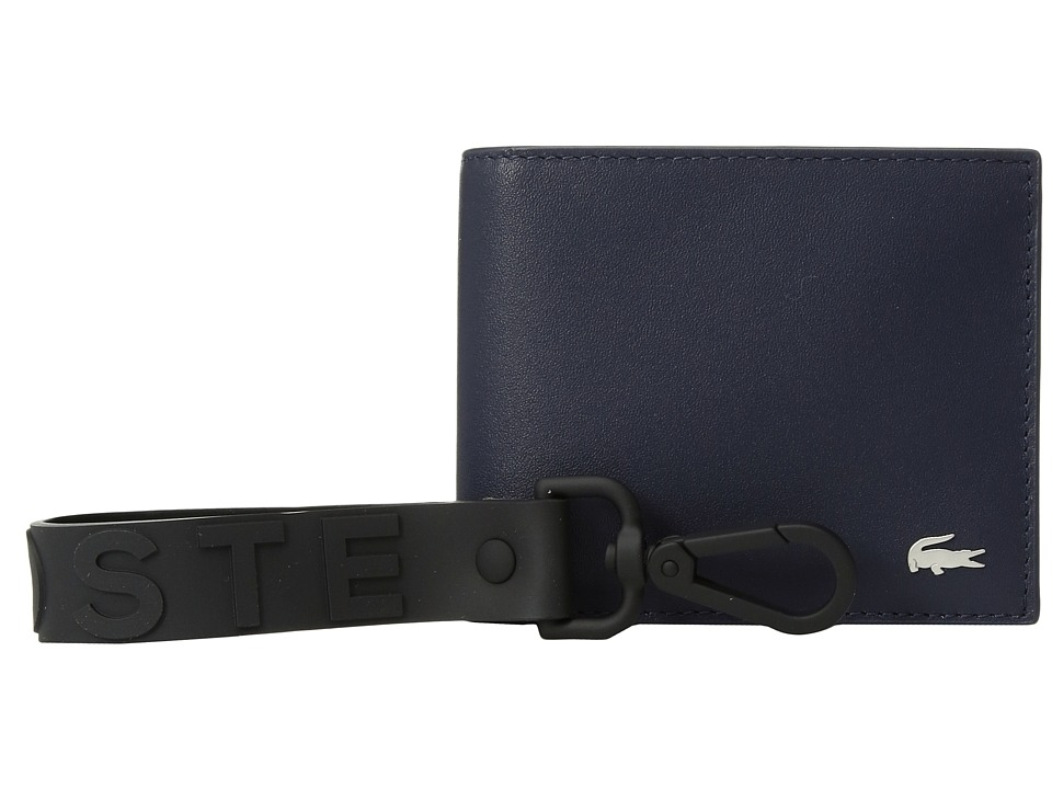 Lacoste - Small Billfold Wallet Gift Box with Key Fob (Peacoat) Wallet Handbags