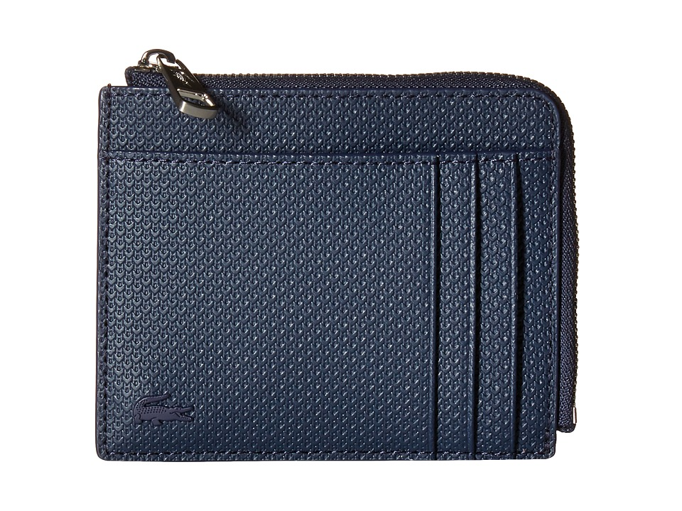 Lacoste - Chantaco Zip Around Wallet (Peacoat) Wallet Handbags
