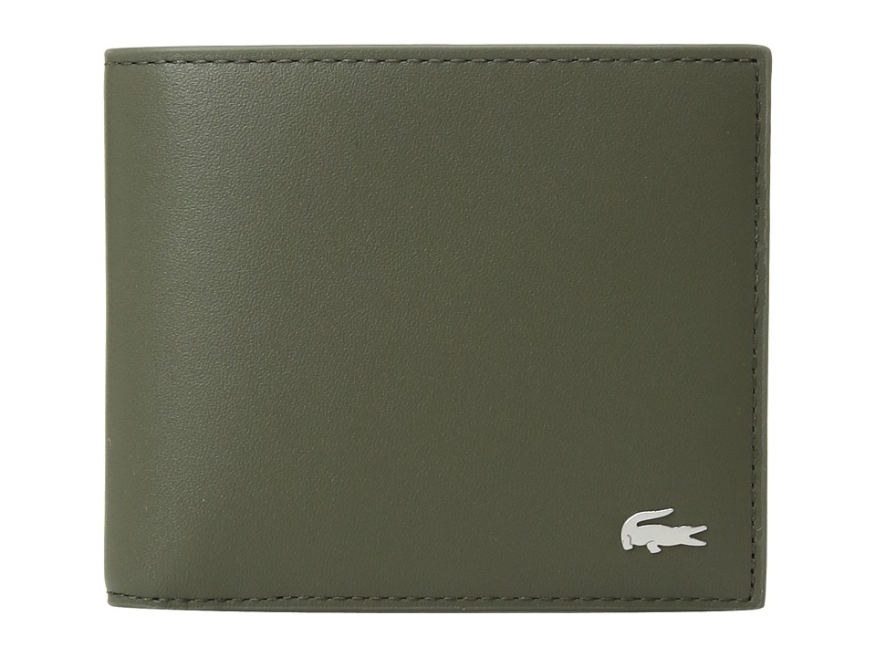 Lacoste - Large Billfold and Coin Wallet (Grape Leaf) Wallet Handbags