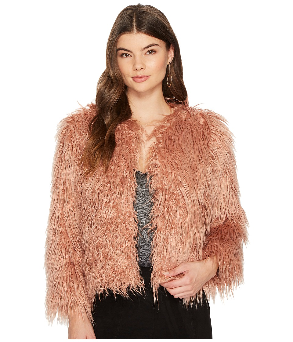 1.STATE - Cropped Faux Fur Jacket