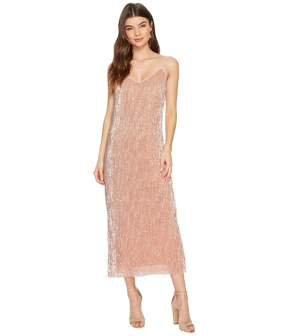 1.STATE Spaghetti Strap Midi Slip Dress (Lustre Nude) Women