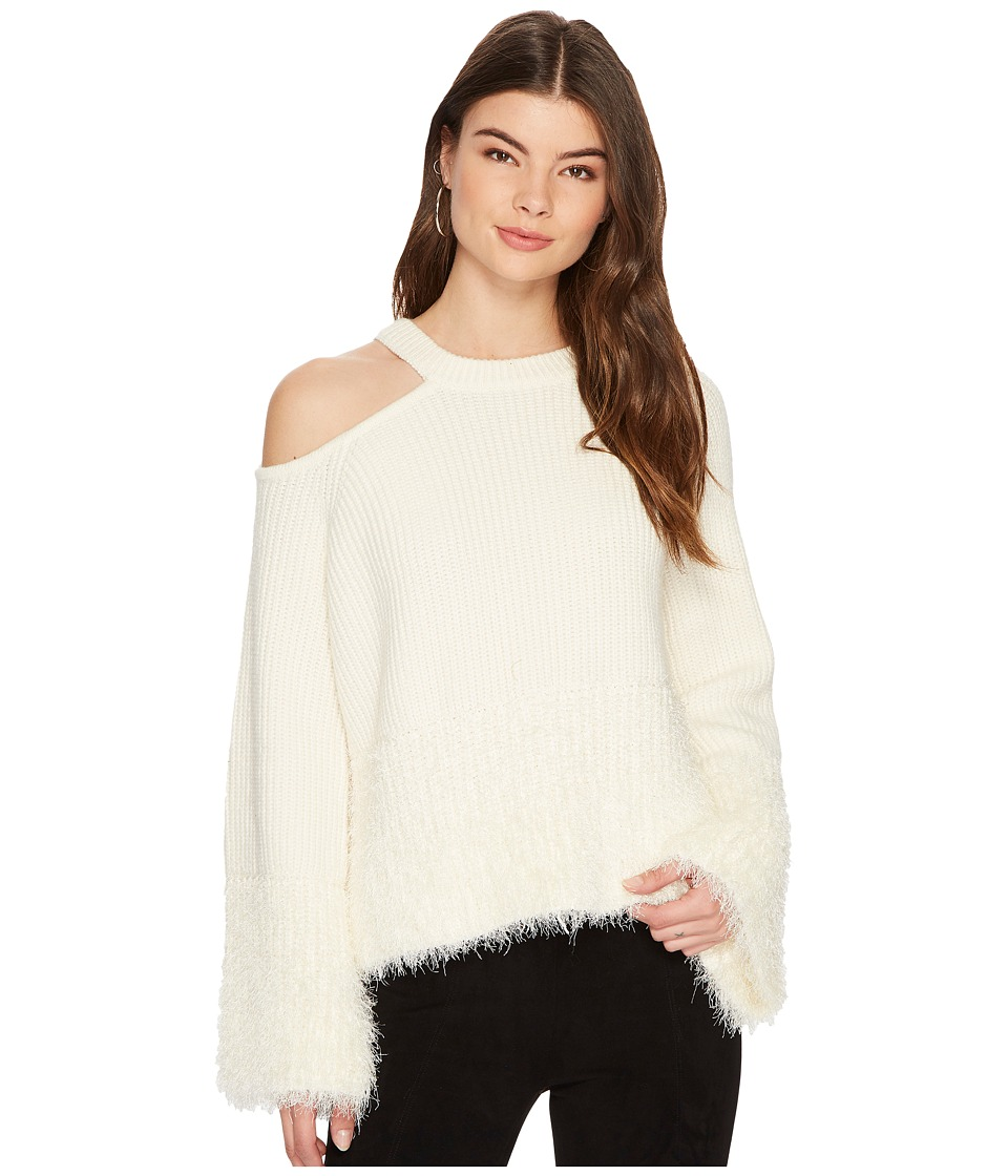 1.STATE - Shoulder Cut Out Sweater with Eyelash