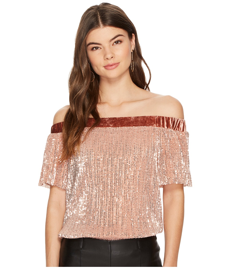 1.STATE 1.STATE - Off Shoulder Top with Velvet Band