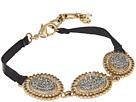 Lucky Brand Pave Link Leather Bracelet