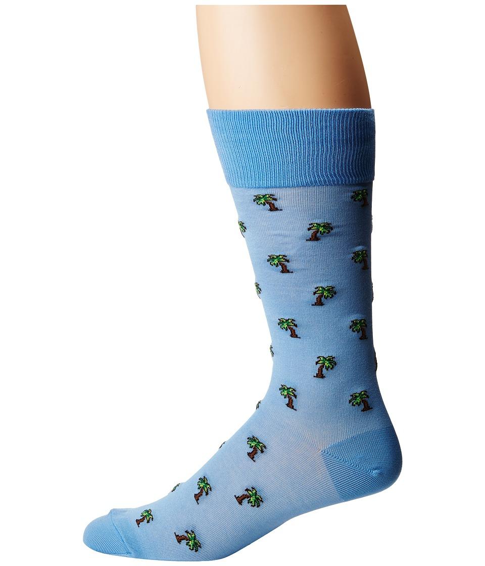Polo Ralph Lauren Mercerized Palm Trees Socks (Light Blue) Men\u0027s Crew Cut  Socks Shoes