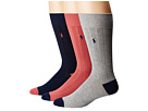 Polo Ralph Lauren Soft Touch Rib Heel/Toe 3-Pack Socks