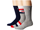 Polo Ralph Lauren Athletic Shield Crew 3-Pack Socks