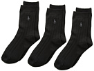 Polo Ralph Lauren Supersoft Ribbed 3-Pack Socks (Toddler/Little Kid)