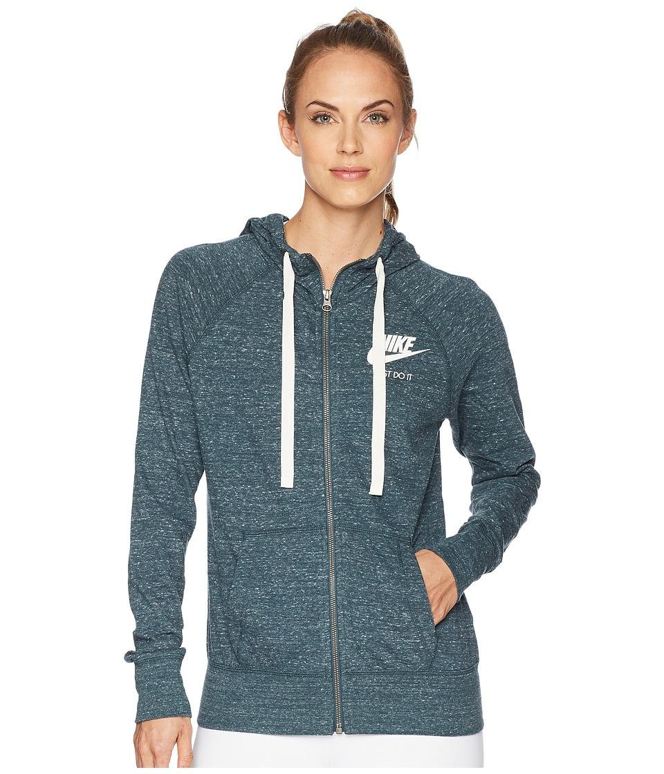 Nike - Sportswear Full-Zip Hoodie (Deep Jungle/Sail) Women's Sweatshirt