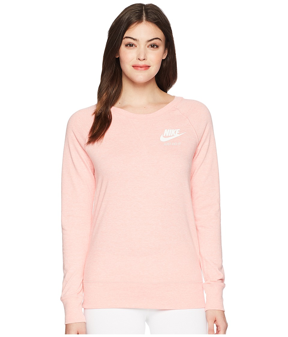 Nike - Sportswear Gym Vintage Crew (Bleached Coral/Sail) Womens Clothing