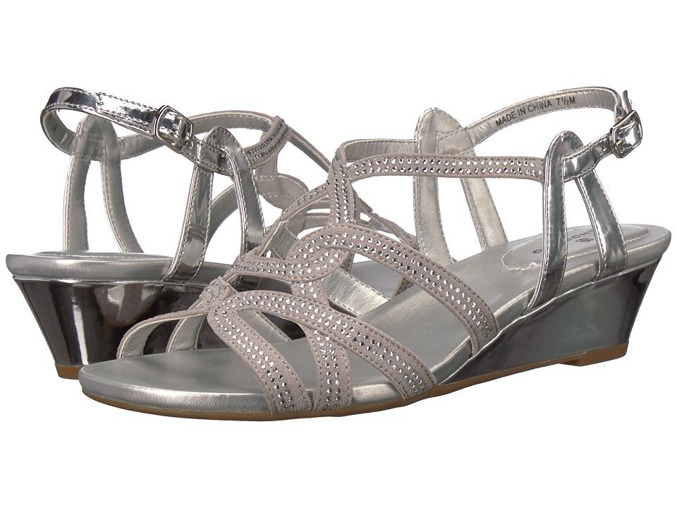 Bandolino Galtelli (Silver Faux Suede/Specchio) Sandals