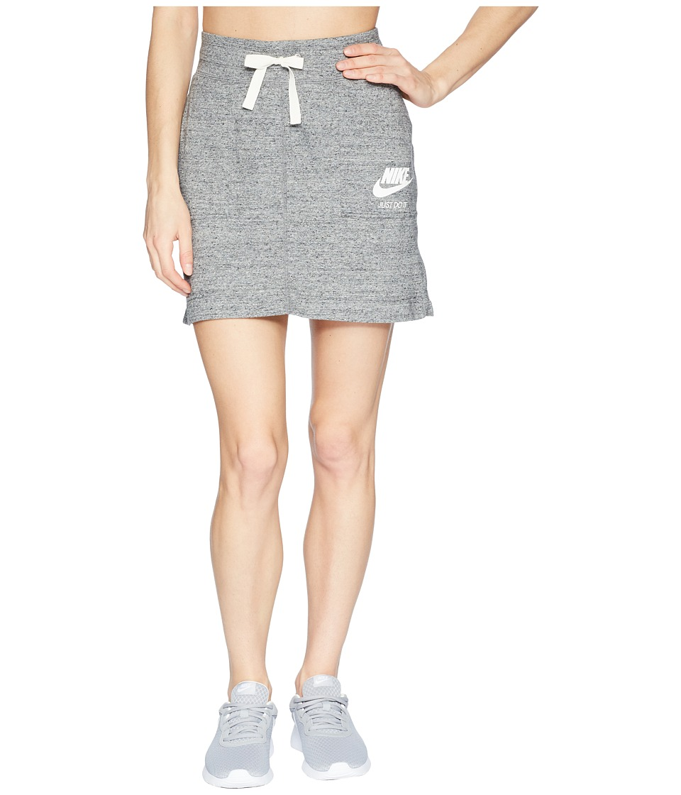 Nike Sportswear Gym Vintage Skirt (Carbon Heather/Sail) Women