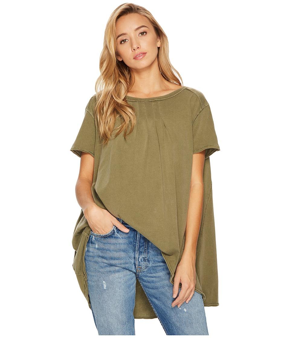 Free People Little Gem T-Shirt (Army) Women