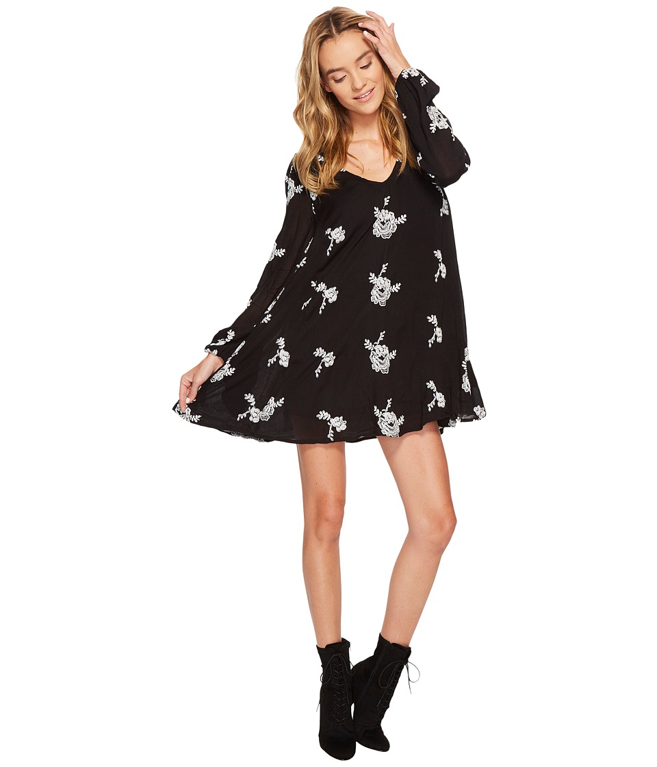 Free People - Rayon Gauze Emmas Embroidered Dress (Black Combo) Womens Dress
