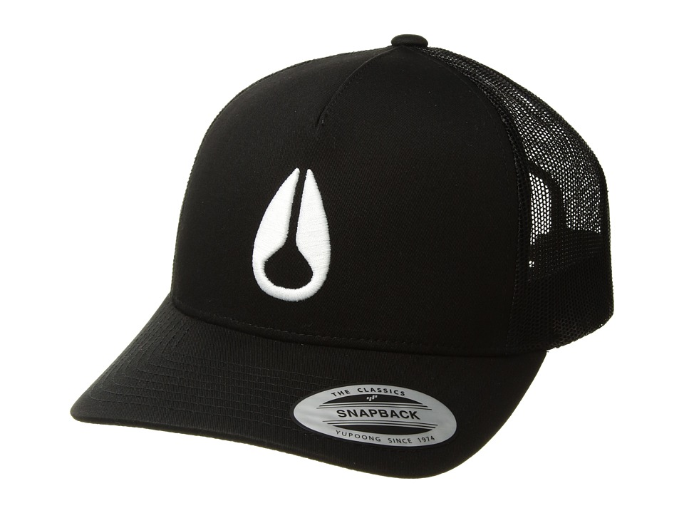 Nixon - Iconed Trucker Hat (Black/White) Caps