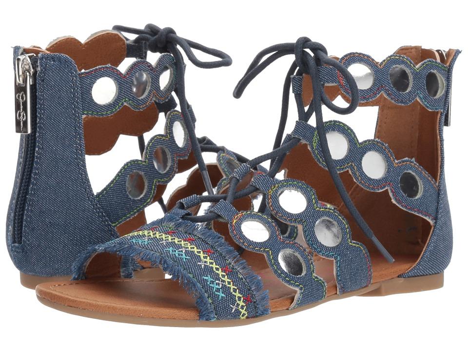 Jessica Simpson Kids - Giada (Little Kid/Big Kid) (Dark Denim Twill) Girls Shoes
