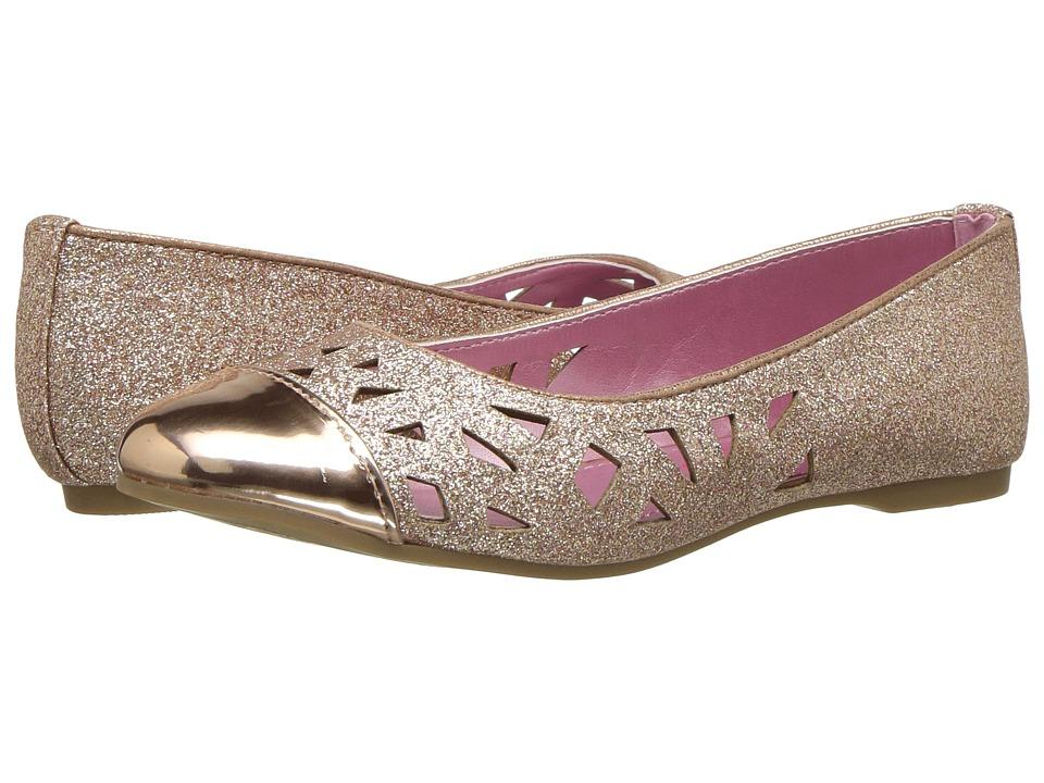 Jessica Simpson Kids - Geela (Little Kid/Big Kid) (Rose Gold Glitter) Girls Shoes