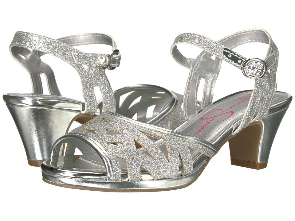 Jessica Simpson Kids - Bettina (Little Kid/Big Kid) (Silver Glitter) Girls Shoes