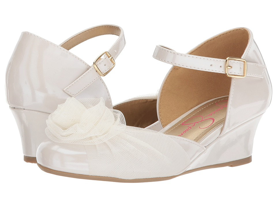 Jessica Simpson Kids Delphine (Little Kid/Big Kid) (Cream Patent) Girl