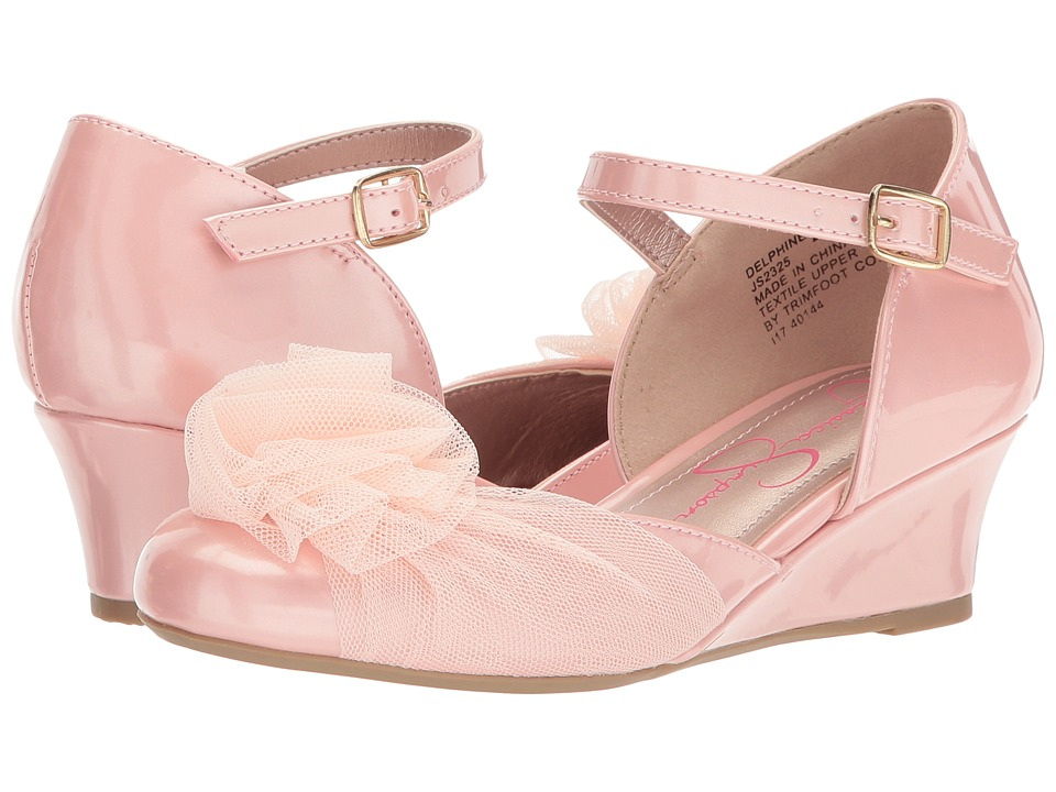 Jessica Simpson Kids Delphine (Little Kid/Big Kid) (Blush Patent) Girl