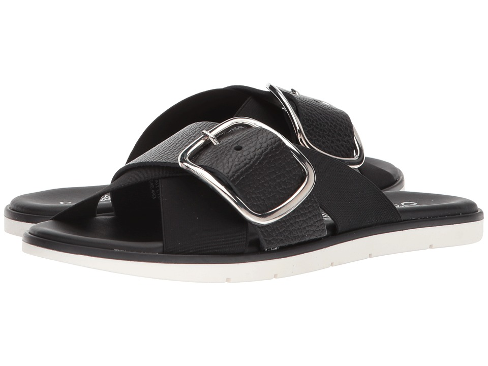 Seychelles - Reservation (Black Leather) Women's Sandals