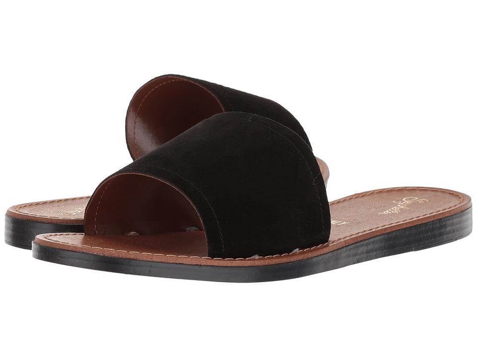 Seychelles Leisure (Black Suede) Sandals