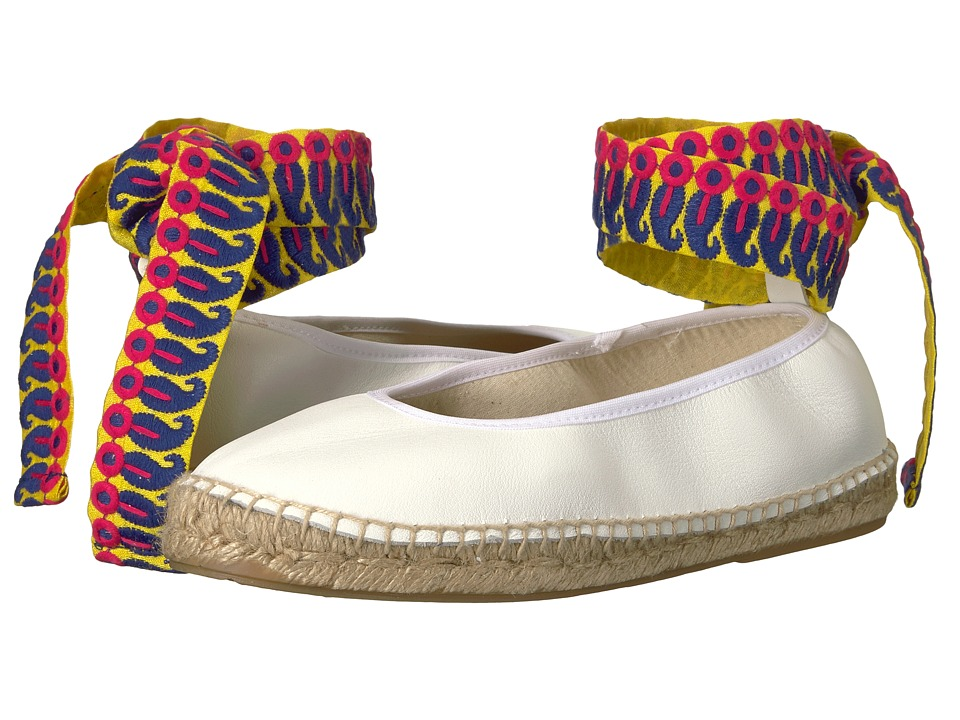 Retro Vintage Flats and Low Heel Shoes Free People Maya Wrap Espadrille White Womens Shoes $98.00 AT vintagedancer.com