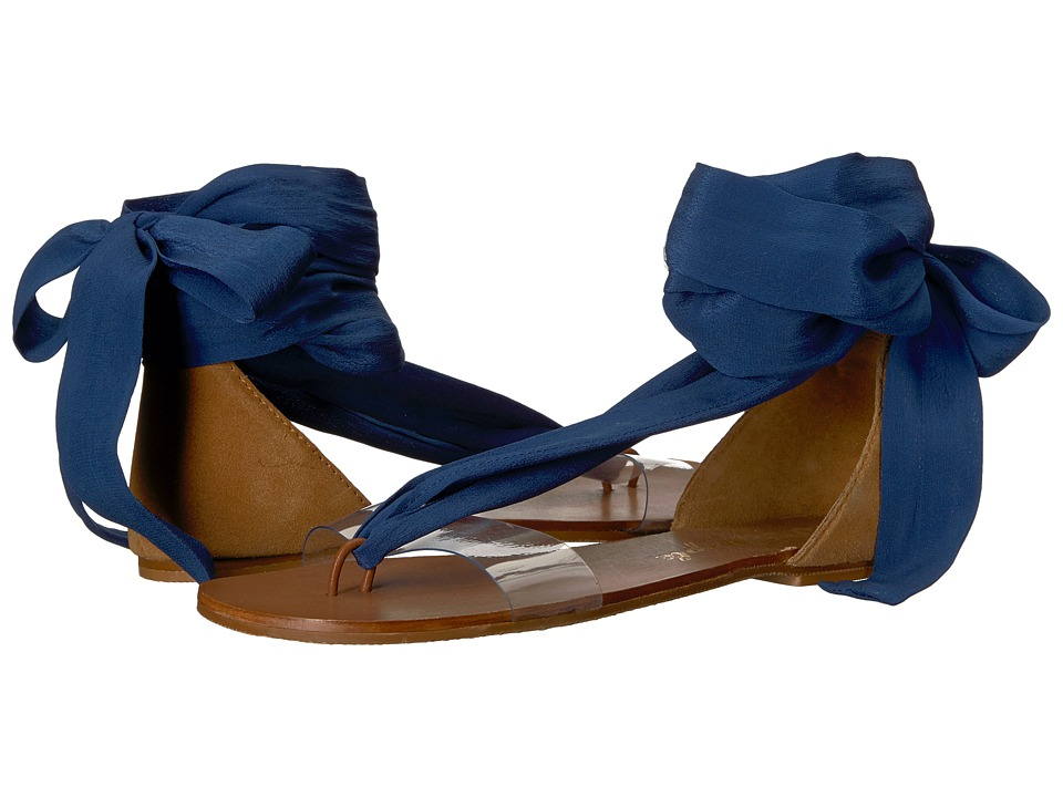 Free People - Barcelona Wrap Sandal (Blue) Women's Sandals