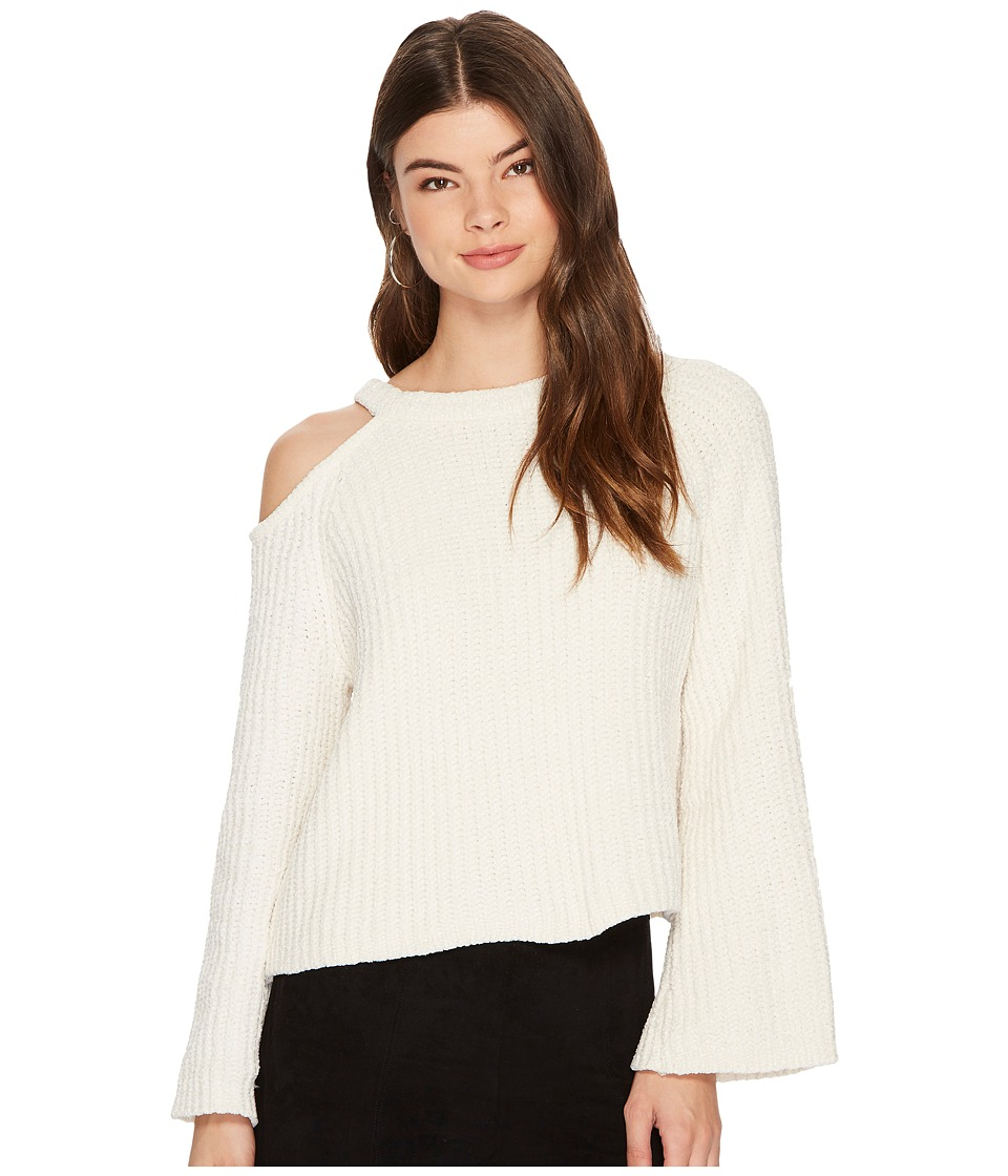 Image of 1.STATE - Bell Sleeve Sweater with Shoulder Cut Out (Antique White) Women's Sweater