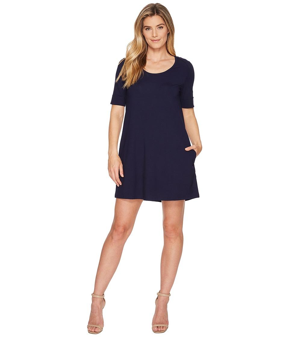Lilla P Short Sleeve Dress (Navy) Women