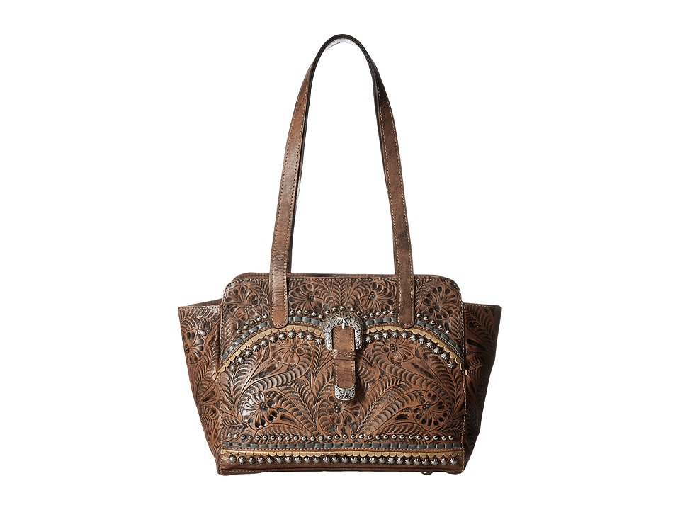 American West - Blue Ridge Zip Top Tote w/ Secret Compartment